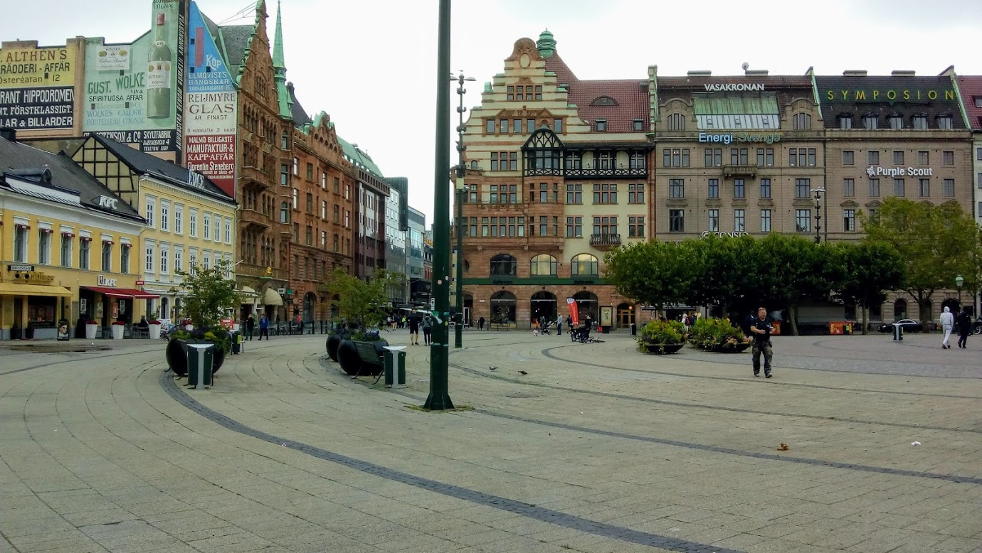 Street at Malmö in Sweden