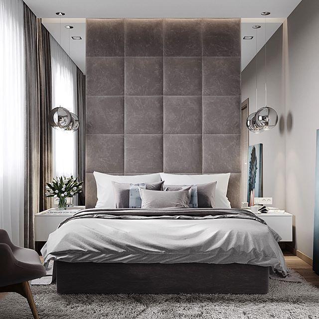 Masculine Bedroom Ideas with a Tall Headboard
