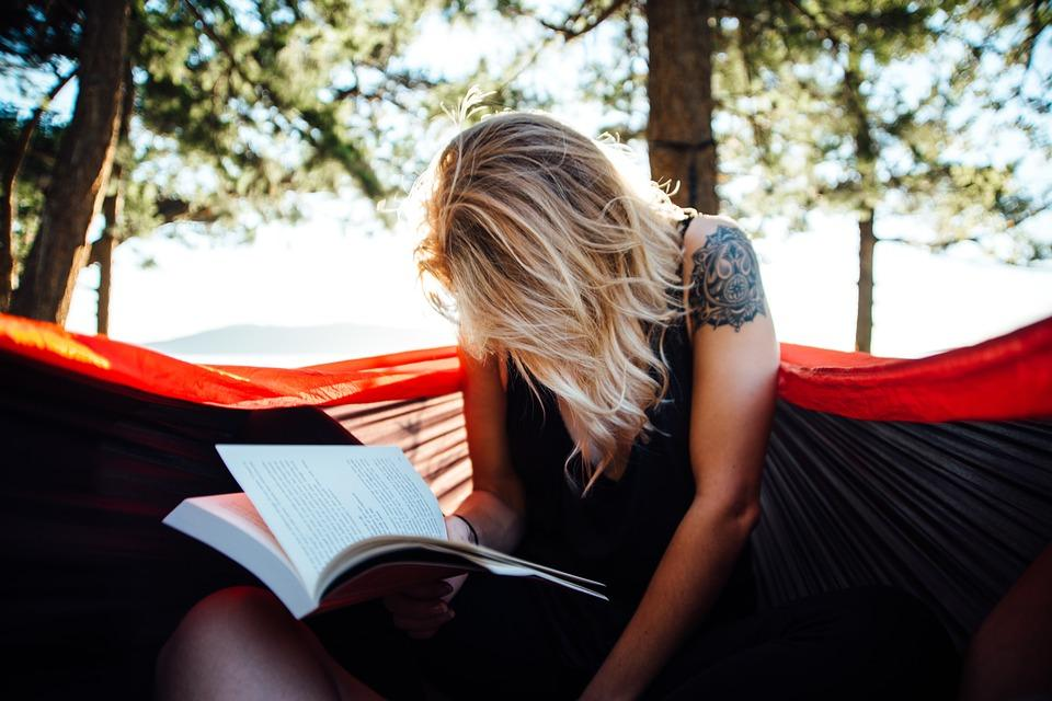 Woman, Reading, Book, Read, Hammock, Leisure, Female