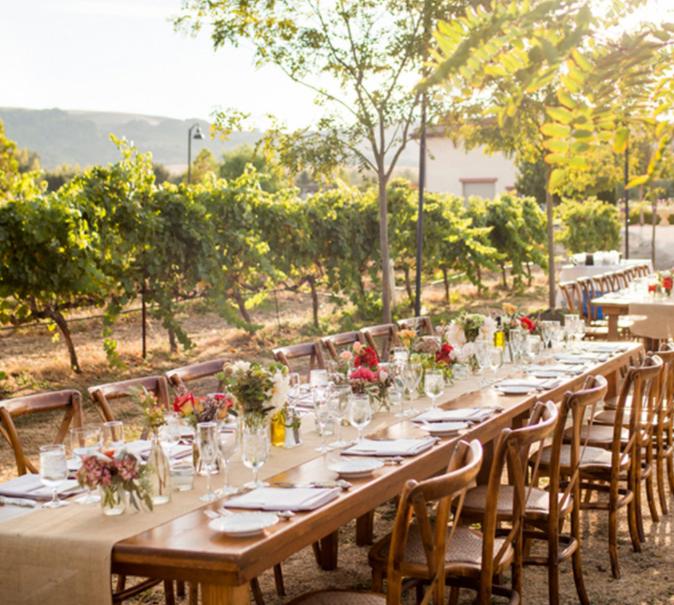 Jacuzzi Family Vineyards Wedding Table