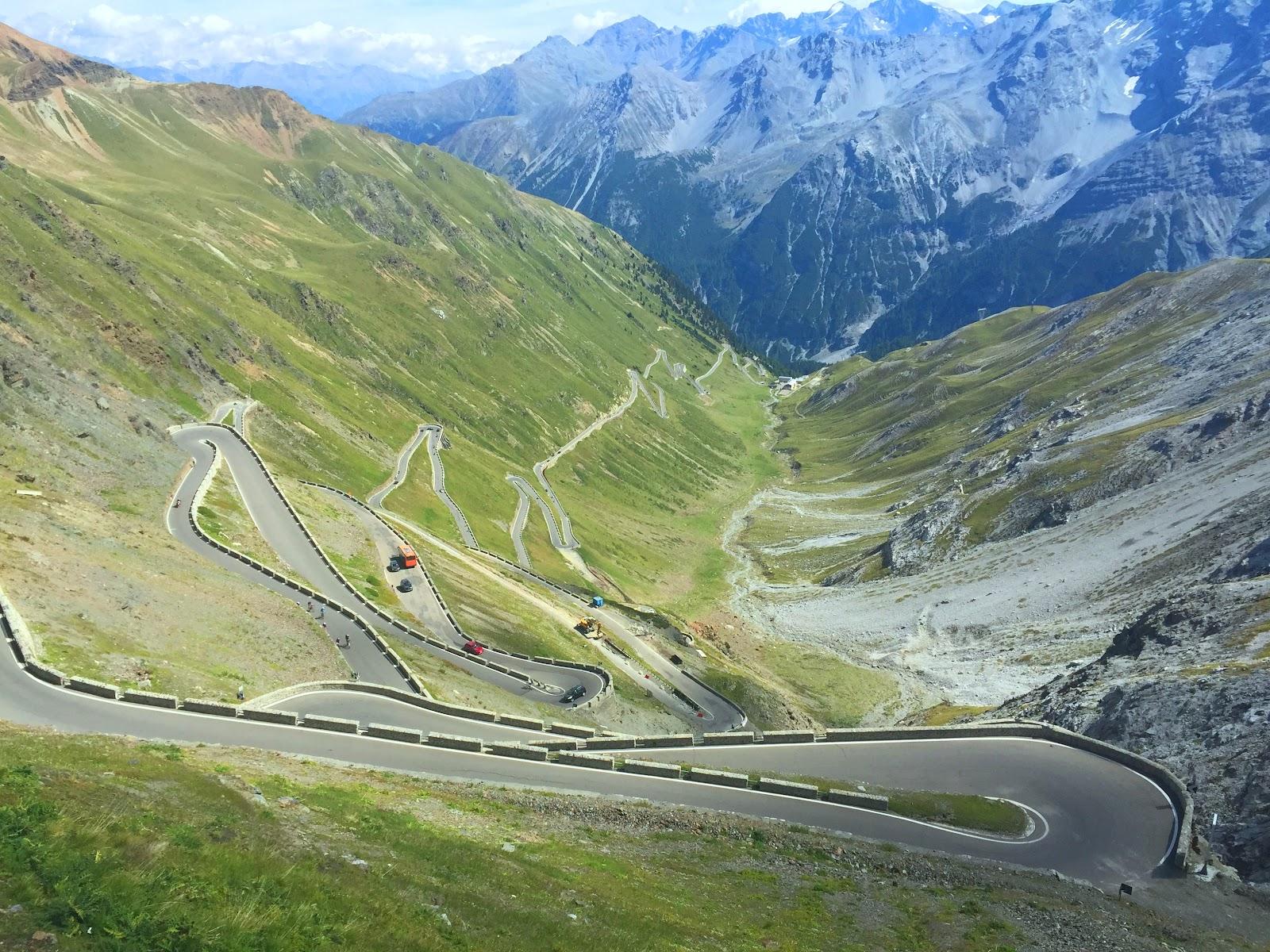 Bicycle climb of Col du Tourmalet - photo of Stelvio hairpins