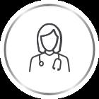 Canesten female doctor icon
