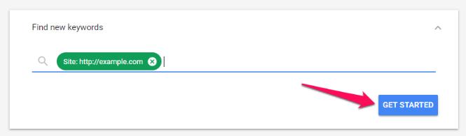 Tìm từ khóa mới với sự trợ giúp của URL