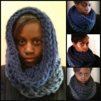 12 days of DIY crochet gifts to make: Day 2- thick and chunky cowl