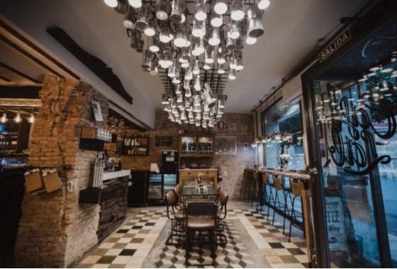 a impresionante sala de degustación de Café Lab