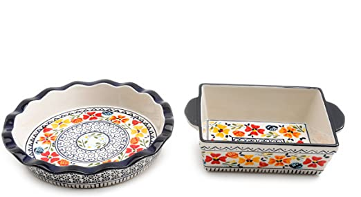 Luxembourg Hand Painted Pie Dishes