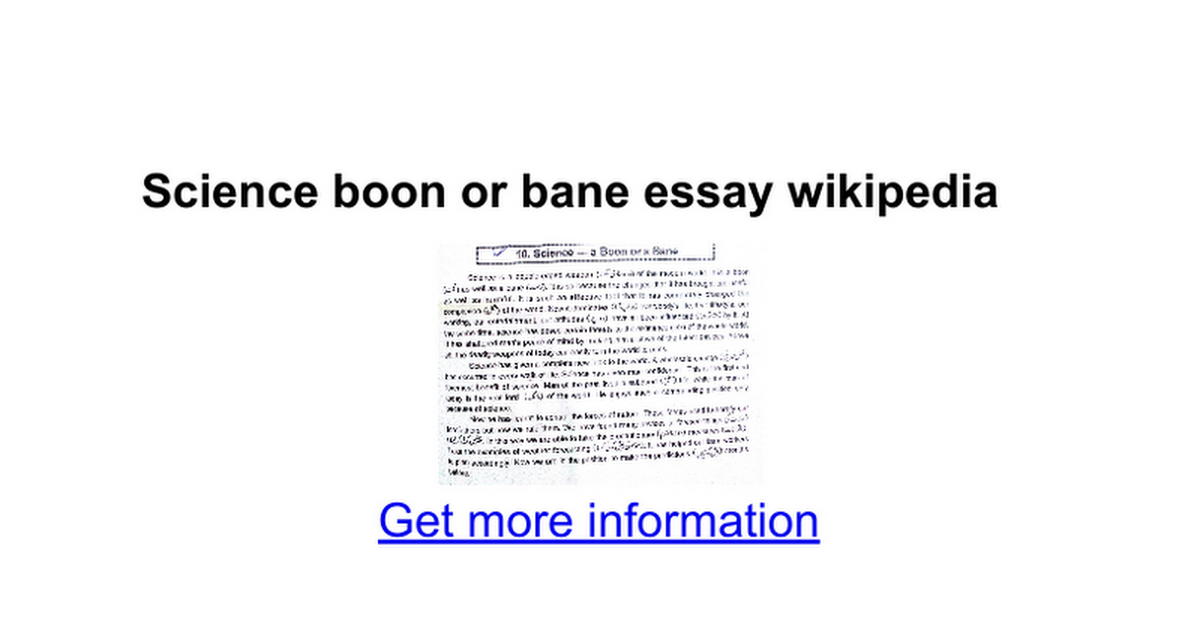 essay on science a boon or bane for the society Cheap dissertation writing zong role of journalism in society essays on education georgia tech application essay benefits hartmut von hentig bildung ein essay zusammenfassung schreiben good hook sentences for essays xml related post of short essay on science boon or bane.