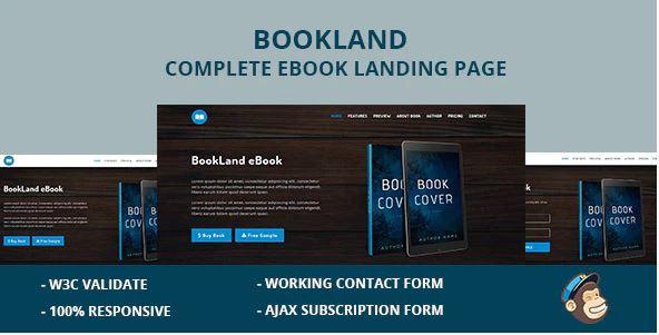 Book Landing Page WordPress Themes