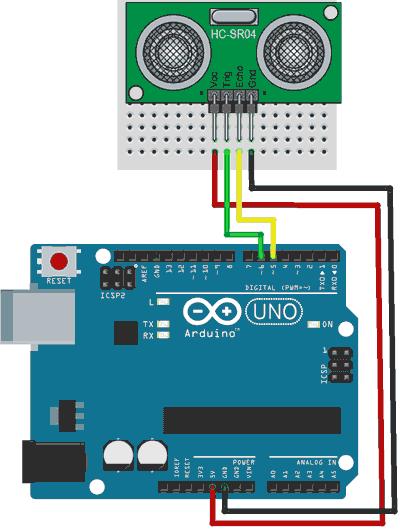 arduino-ultrasonidos-montaje