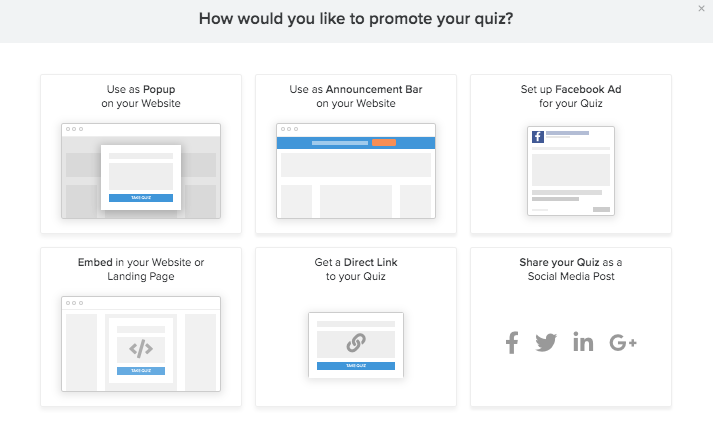 choices to promote quiz