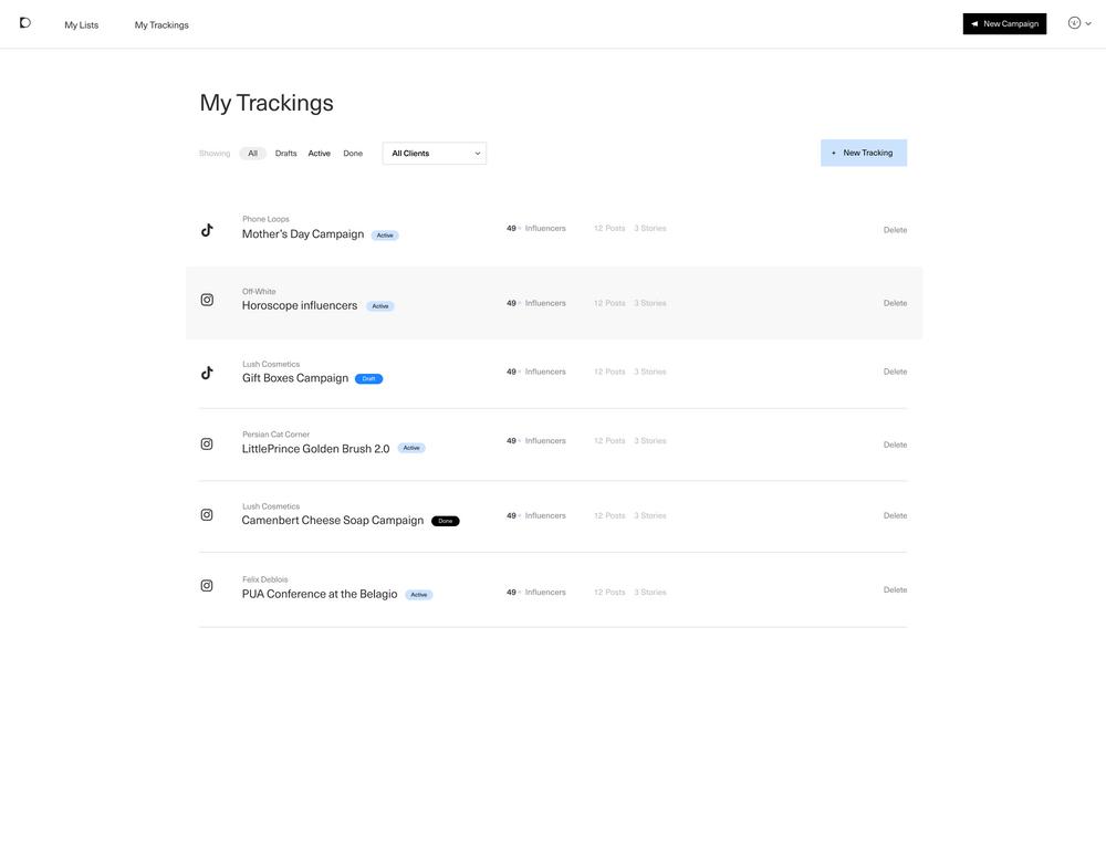 inBeat Instagram tracking software