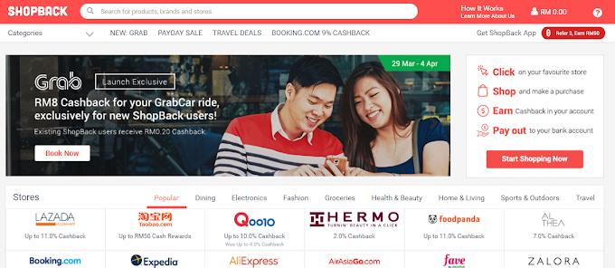 Cara dapatkan cashback shopping online melalui Shopback