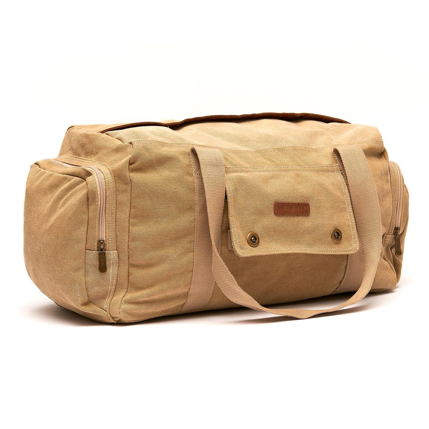 Recenze Bushman: Cestovní taška Karo II béžová