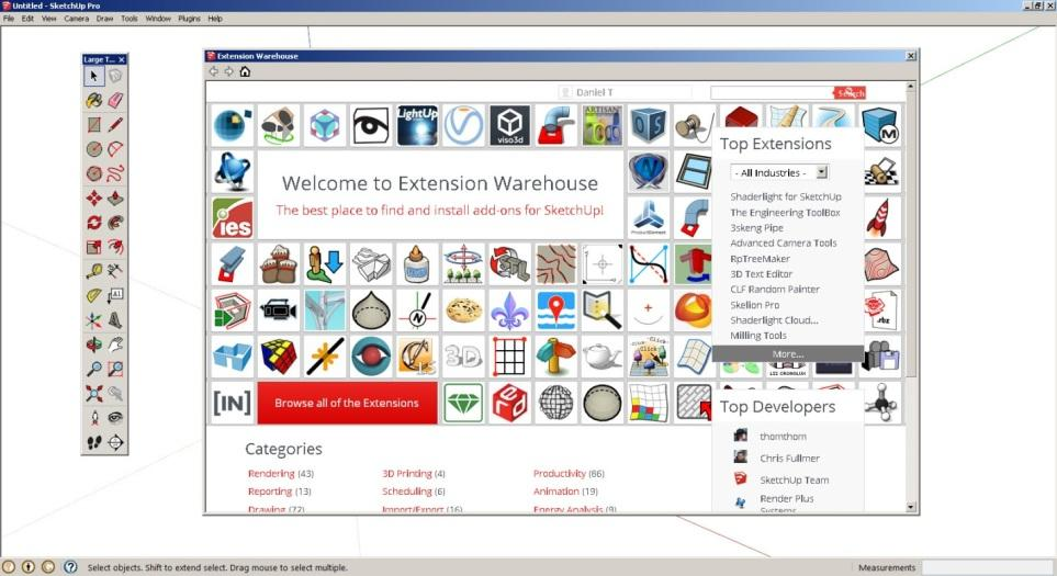 Top 10 SketchUp Extensions (a k a  plugins or Ruby Scripts) Part 1/2