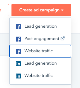 HubSpot overview: Facebook ads