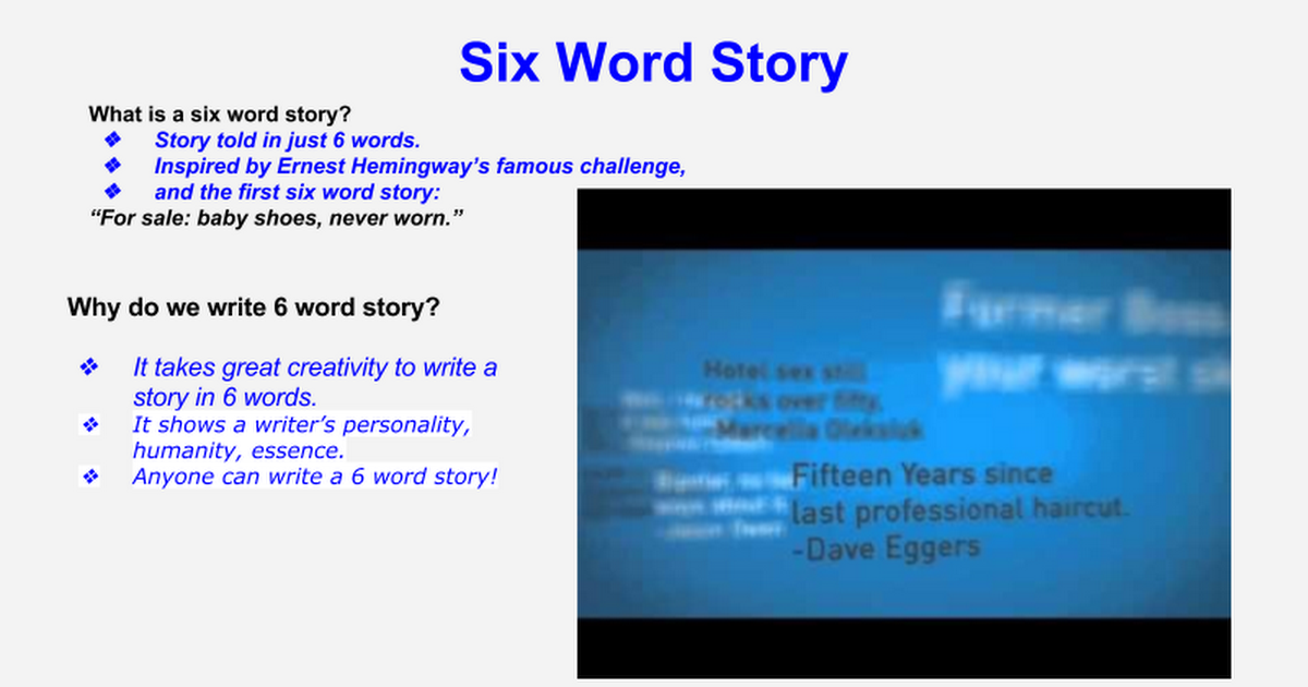 6 Word Story