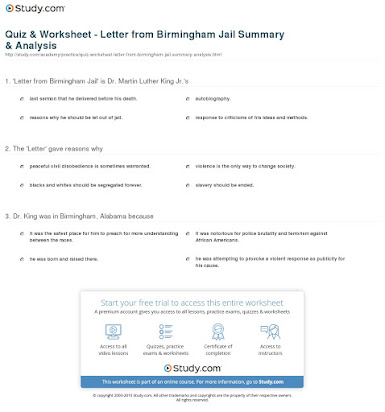 Letter from birmingham jail 50 essays answers