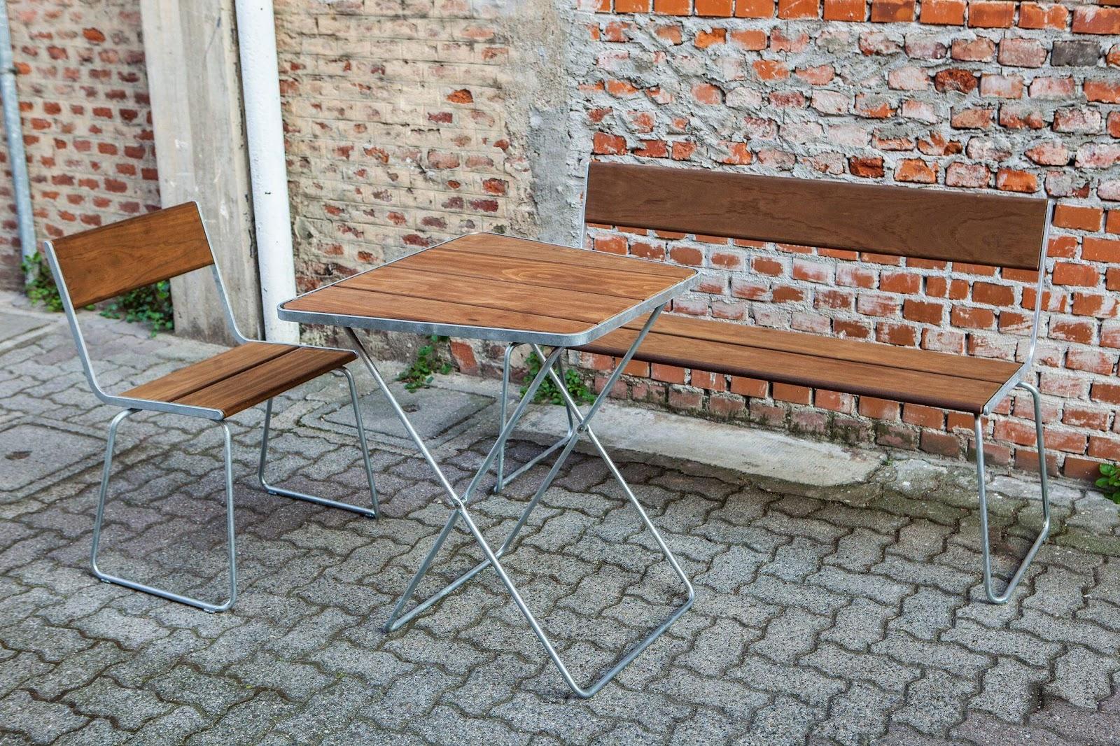 Kombination af møbler i Kebony materiale