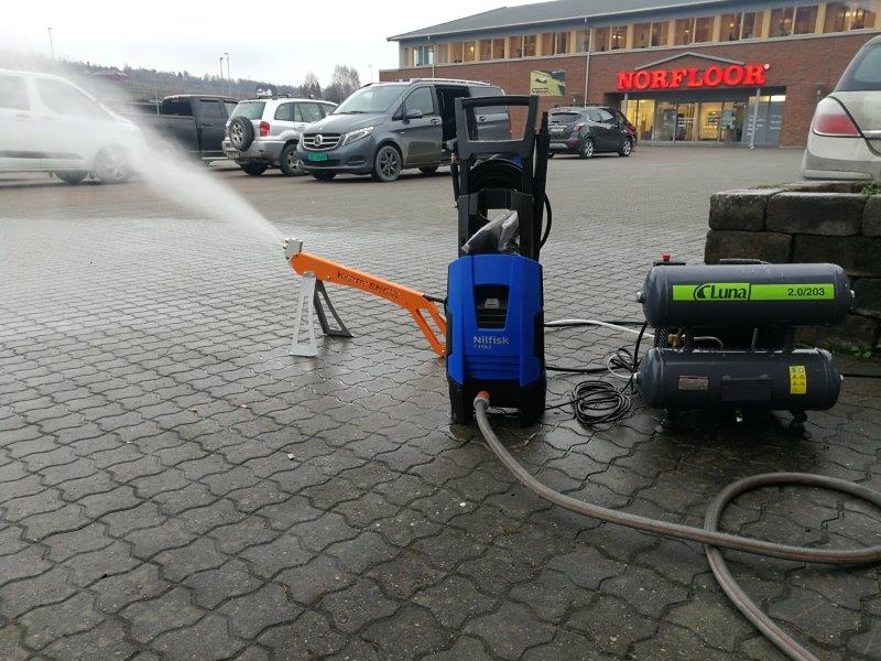 Utstyr som trengs for å pynte opp butikken. Her Gausdal Landhandleri Lillehammer
