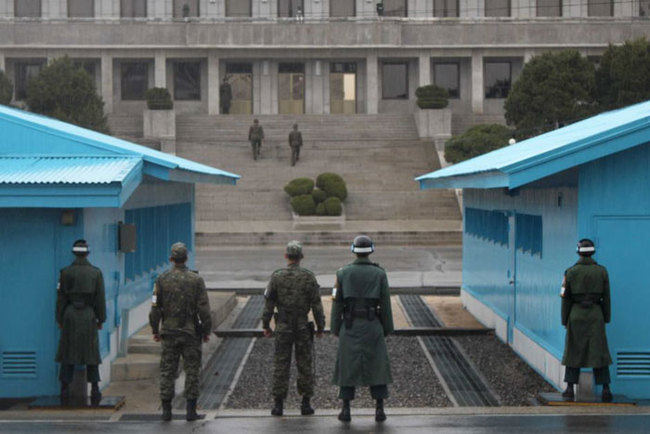 21) North Korea and South Korea - The Joint Security Area pictured here is the only portion of the Korean Demilitarized Zone (DMZ) where South and North Korean forces stand face-to-face.