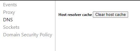 Clear DNS Host Cache in Chrome