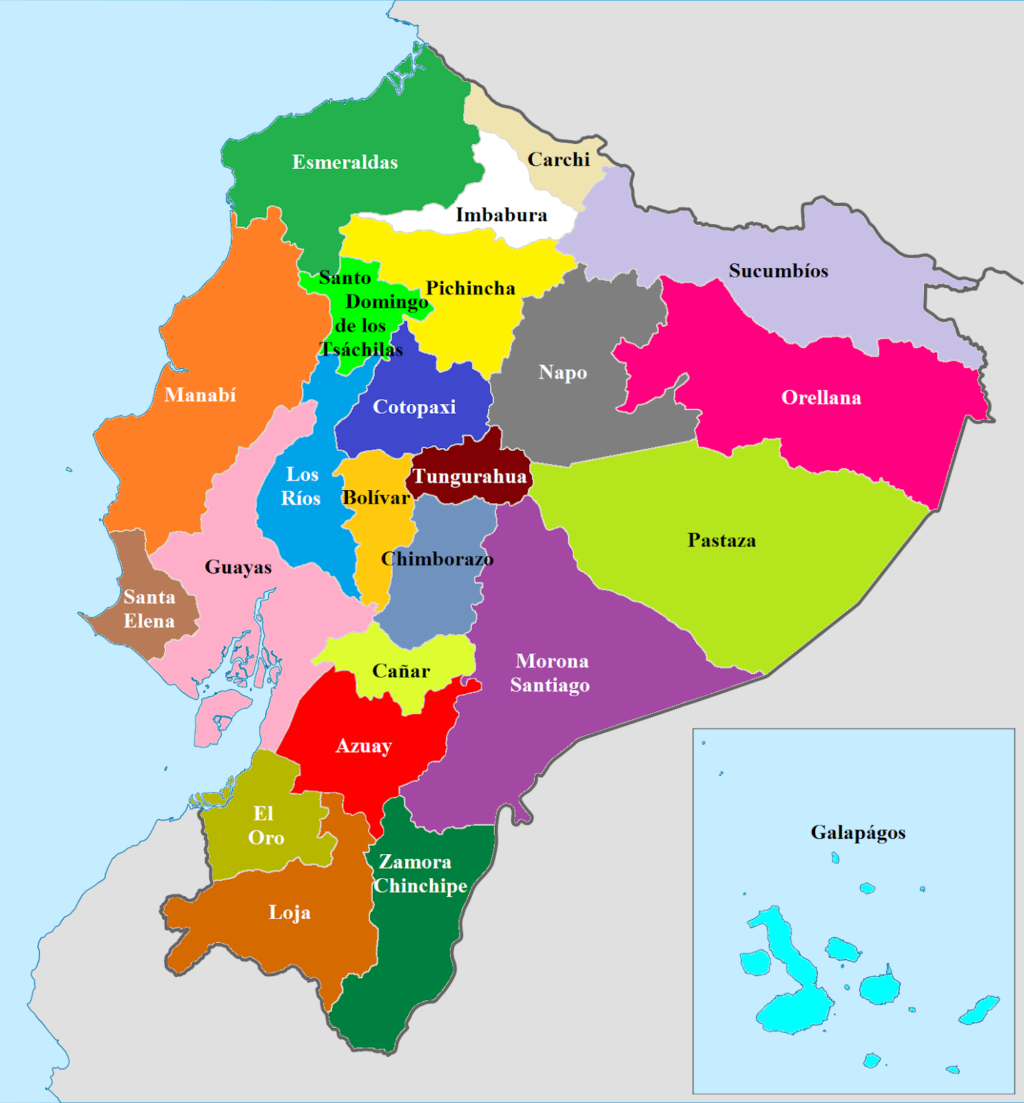 Image result for ecuador map