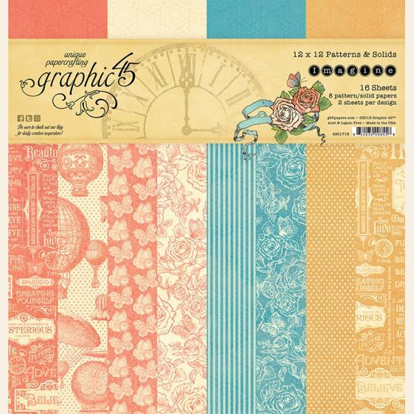 Imagine 12x12 Patterns & Solids Paper Pad