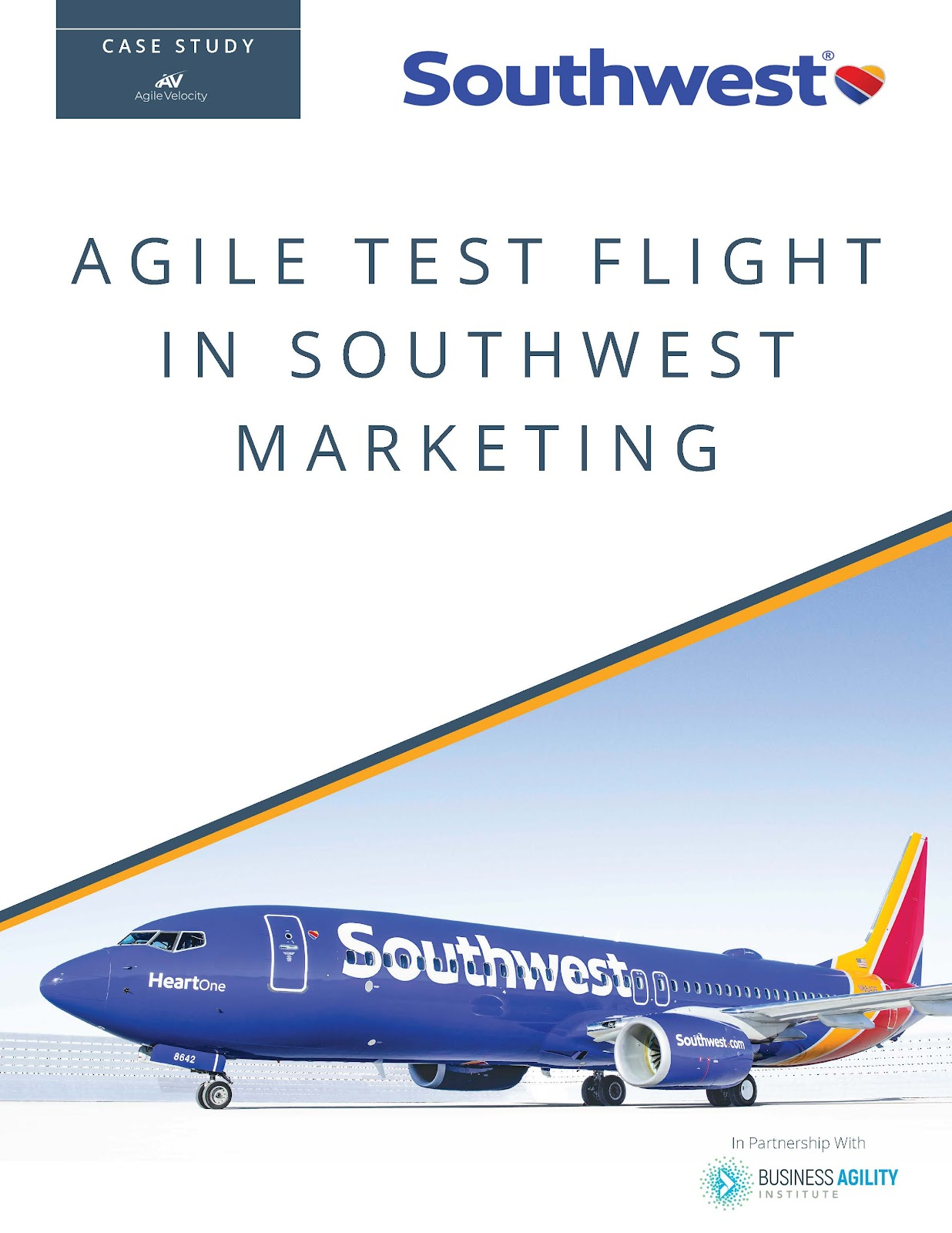 Southwest Airlines' Marketing Agile case study cover.