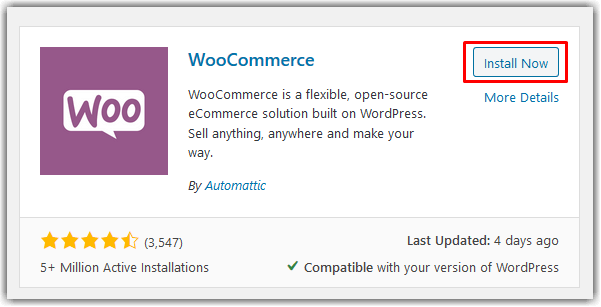 Menginstal plugin WooCommerce.