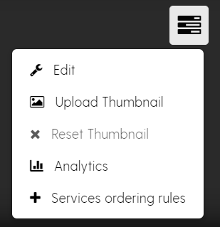 Screenshot showing the Channel Actions menu, including the Edit item.
