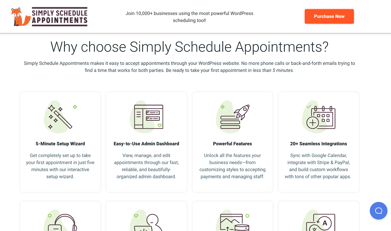 Simply Schedule Appointments Features