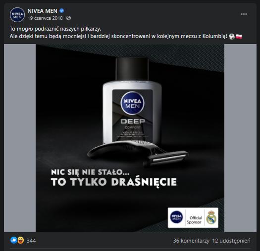 Real time marketing przykłady działań - Nivea