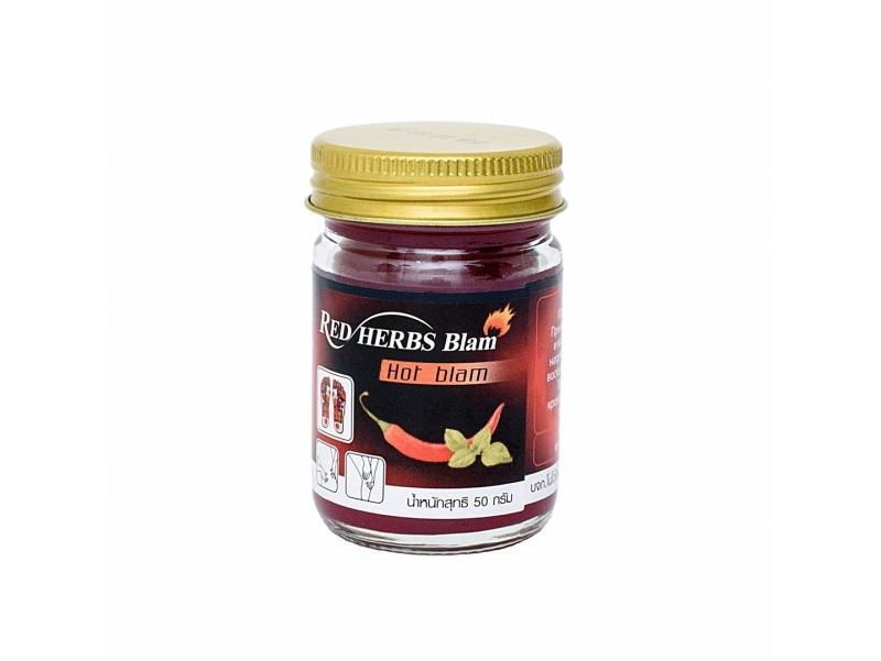 Инструкция по применению Red Herbs Balm Hot Balm красный бальзам с перцем и  мятой 50 гр