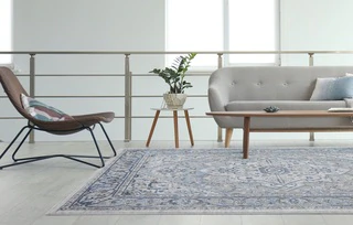 Place rugs in high-traffic areas