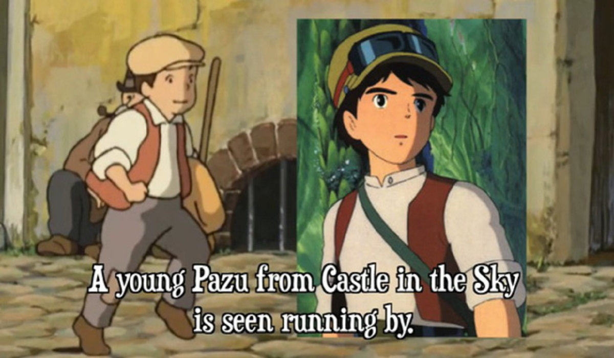 looks like our little Pazu (Castle In The Sky) changed into a cameo