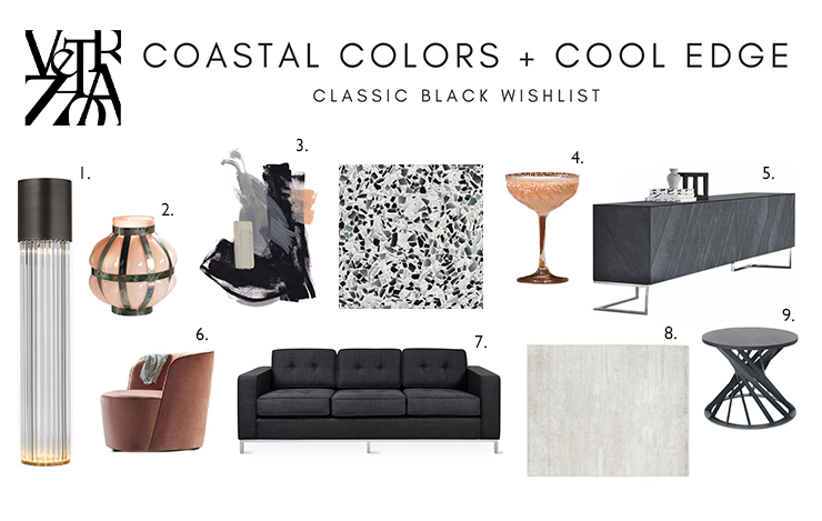 Miami inspired mood board featuring Classic Black