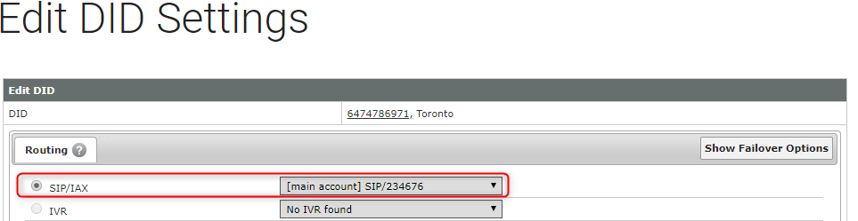 Configuration Guide for VoIP MS Canadian SIP trunk with 3CX
