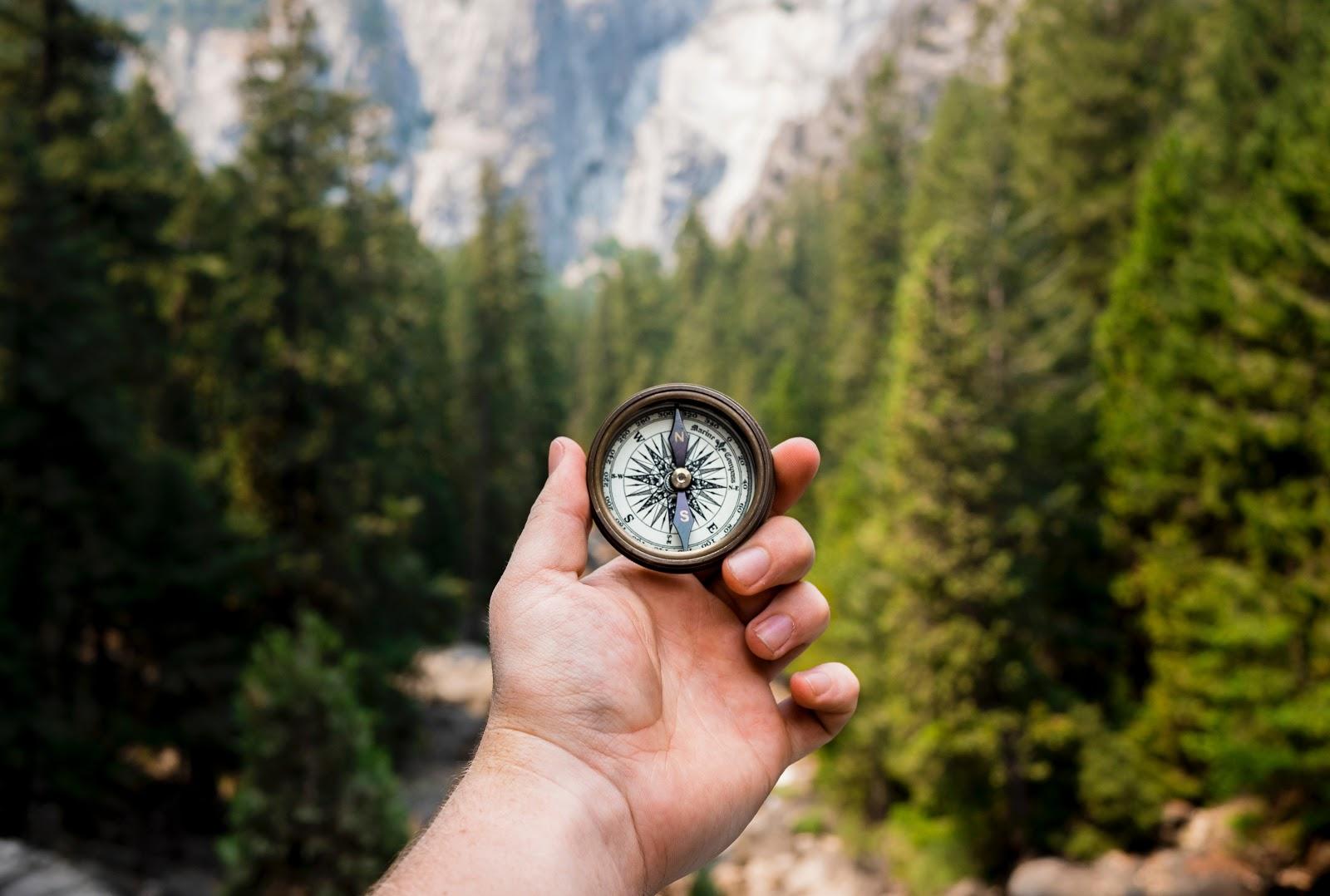 website purpose compass hand