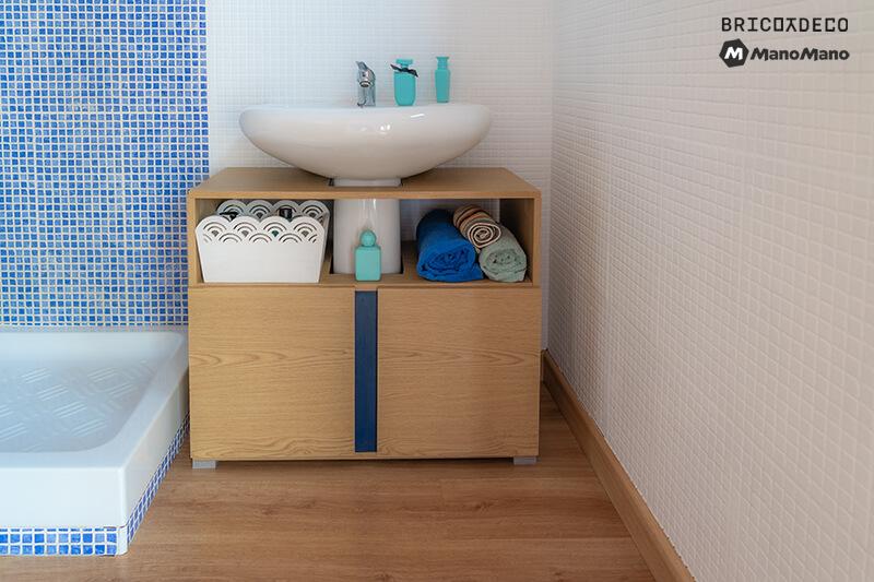 mueble para lavabo para cuartos de baño pequeños
