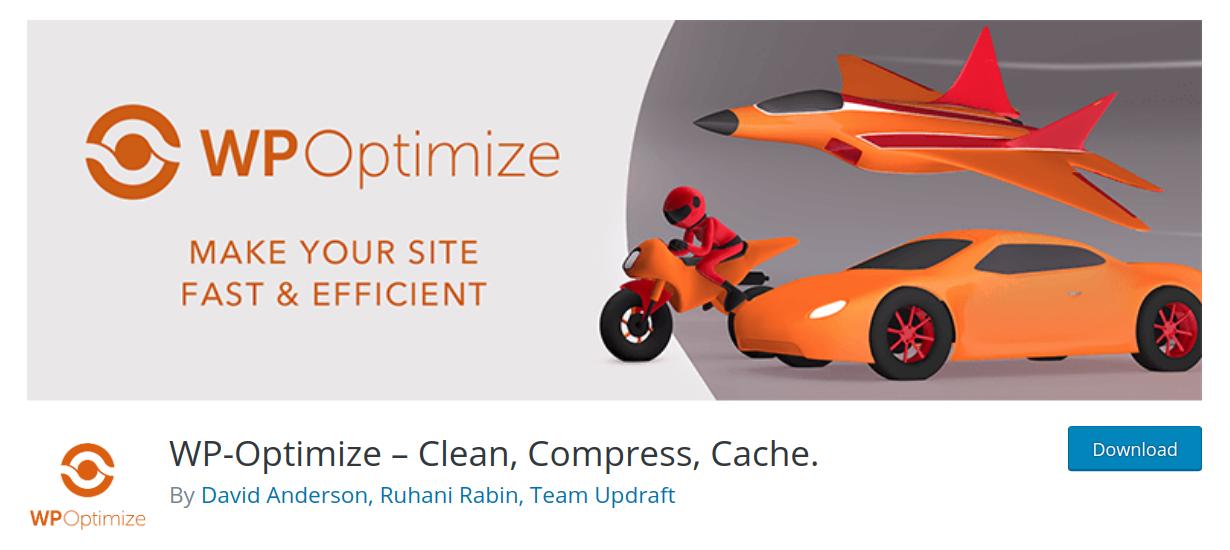 wp optimize wordpress performance plugin header
