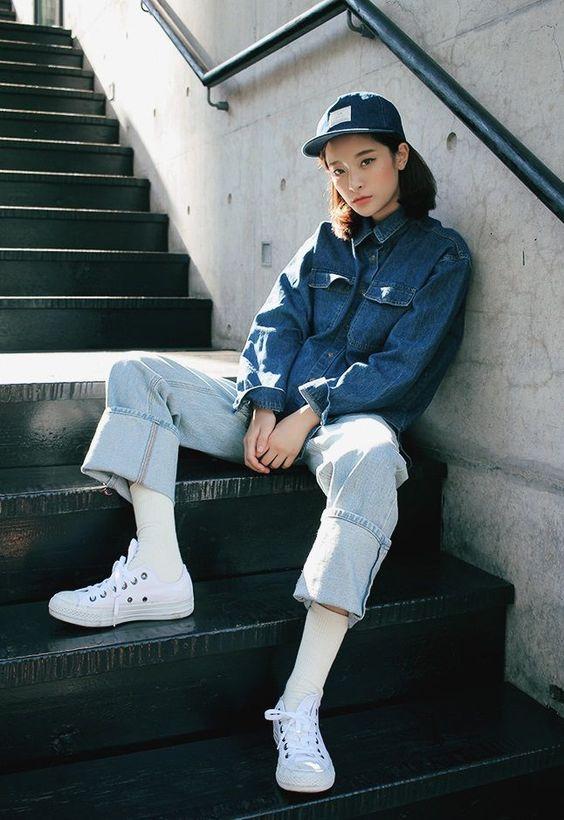 3.แค่เพิ่มหมวกสักใบก็เป็นสไตล์แต่งตัวแบบสาวเท่