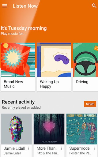 Google Play Music Listen Now