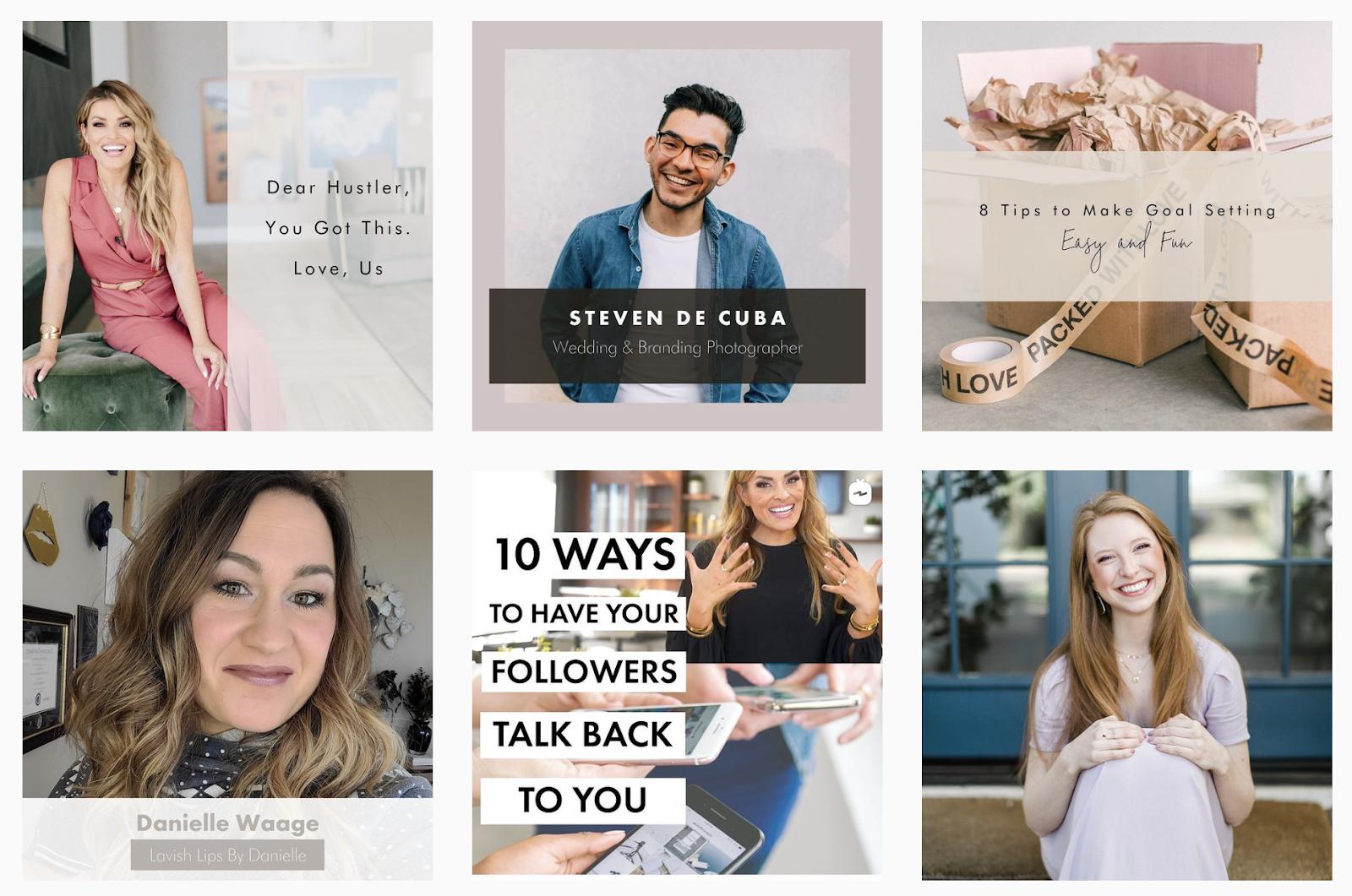 social curators grid on instagram