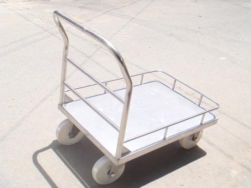 Mẫu xe đẩy inox 1 tầng 01 tiện dụng với bánh xe nylon tiết diện lớn