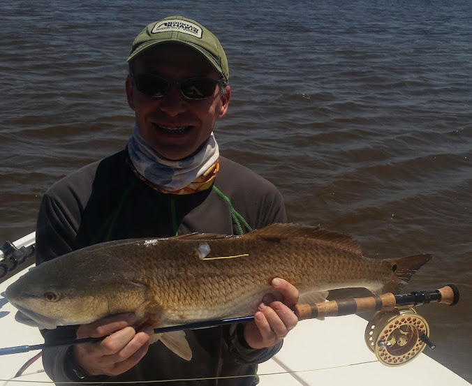 Tim's first red Golden Isles Fly Fishing