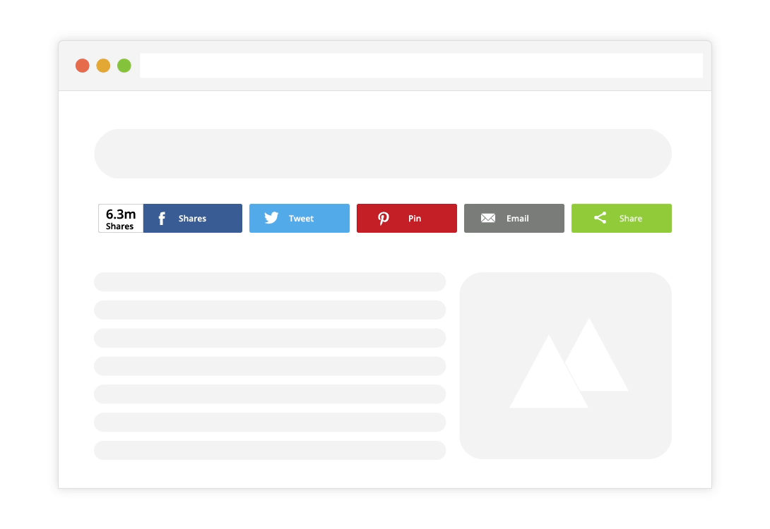 ShareThis social share buttons.