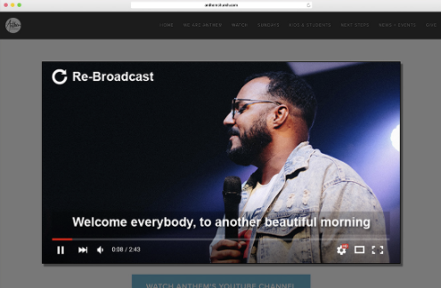 Boxcast Streaming for Church Streaming Software Screenshot