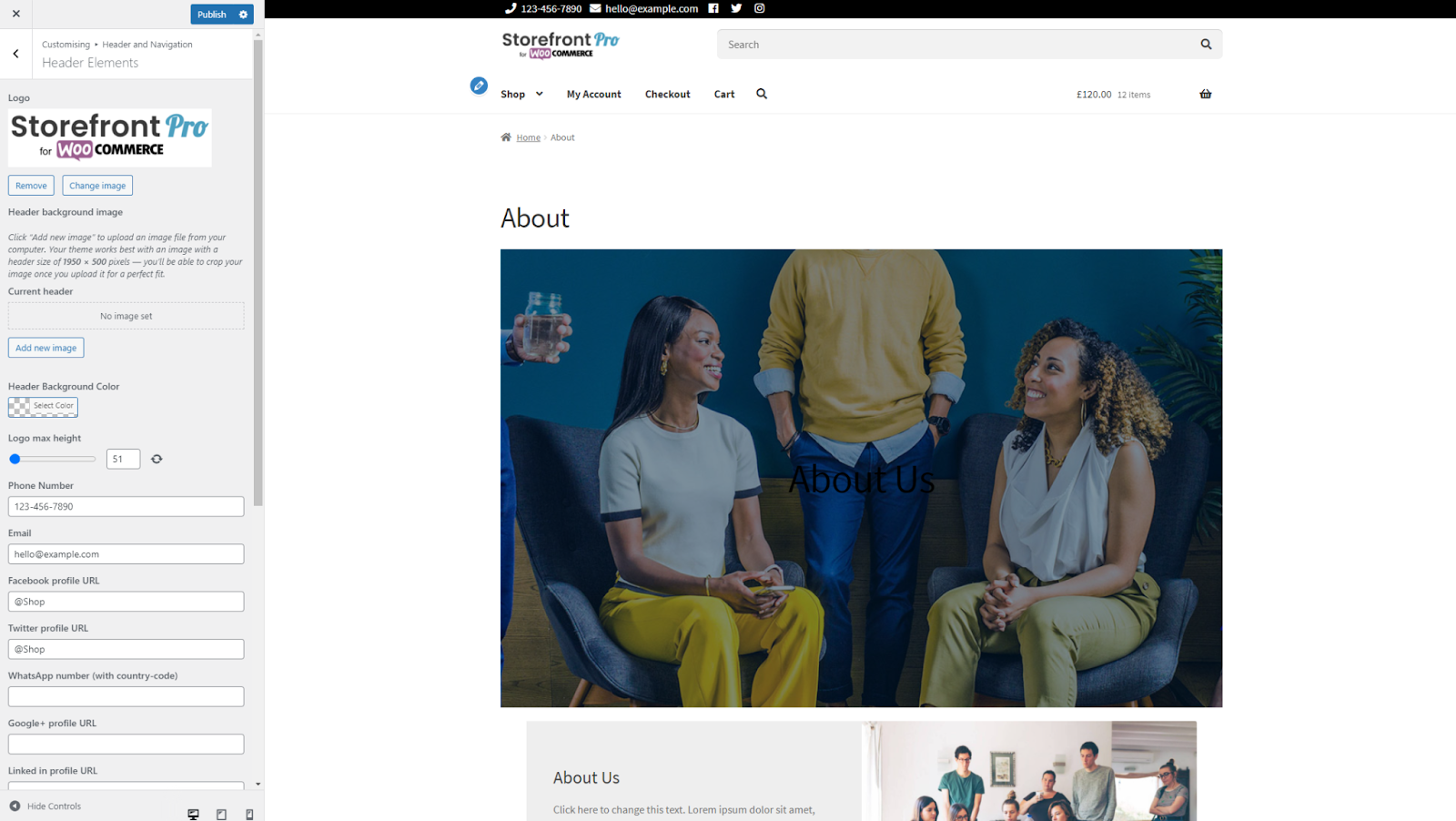 Customising background for individual pages