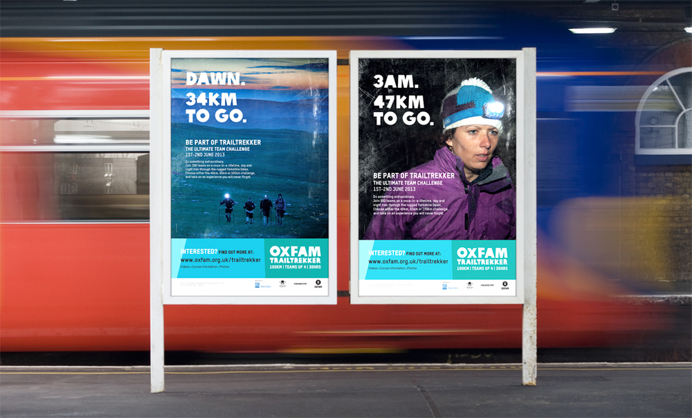 These Oxfam OOH posters in key commuter areas are a great way for the charity to gain attention