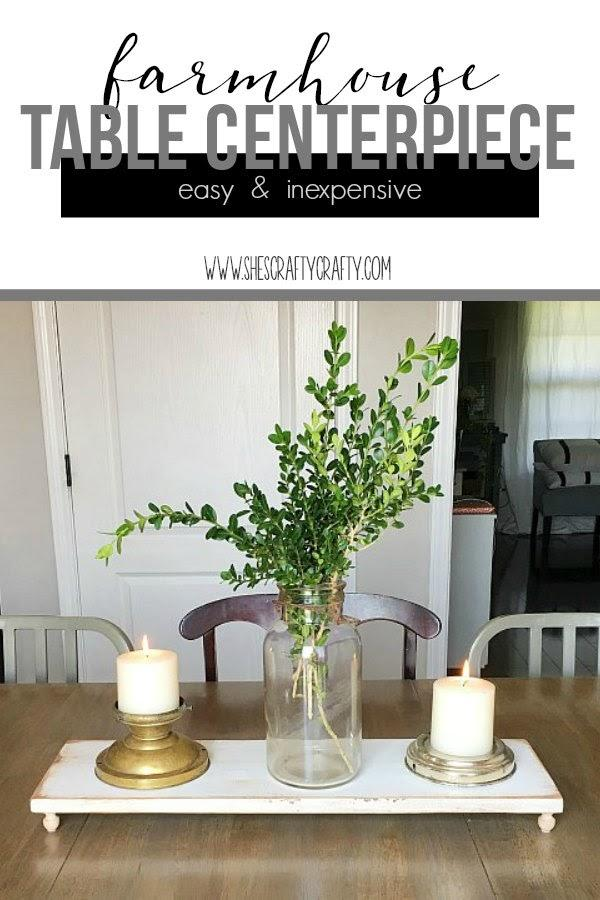 Try a simple farmhouse centerpiece DIY with She's Crafty. See all the Best Crafts of 2018 from more of your favorite bloggers at Halfpint Design.